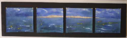 Aboriginal Art - Coral Cae & Sandbanks on Barrier Reef (2003)