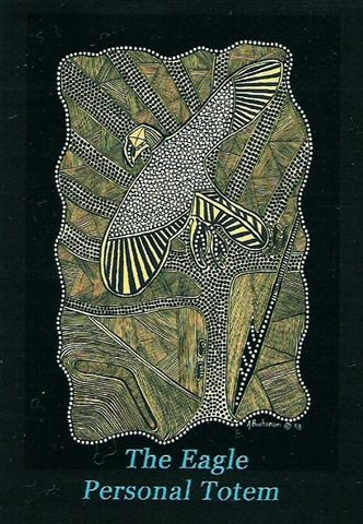 Aboriginal Art - The Eagle Personal Totem