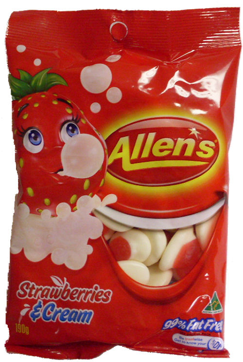 Allens Strawberries n Cream 190g