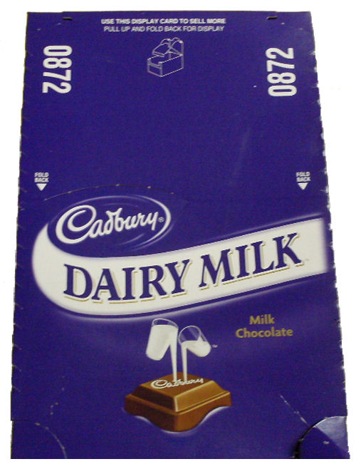Box: Cadbury Dairy Milk Choc Bar 36x50g