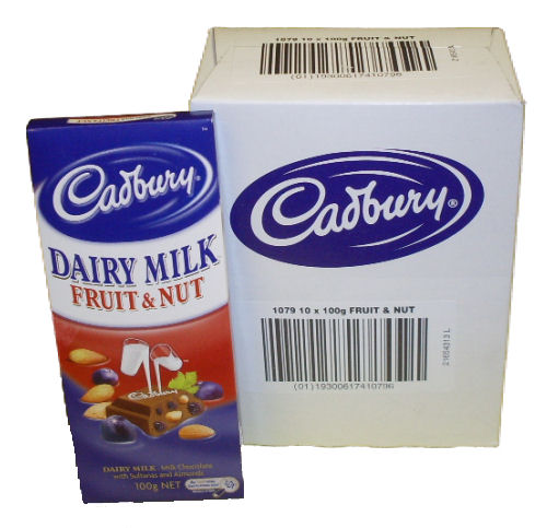 Box: Cadbury Fruit and Nut 10x100g