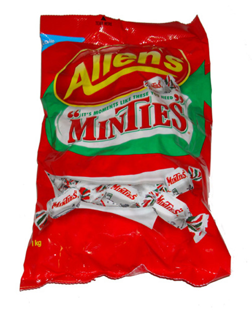 Allens Minties 1000g Bag