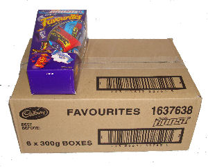 Box: Cadbury Favourites 6x12oz (300g)