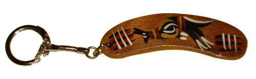 Key Ring - Aboriginal Wooden Boomerang
