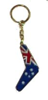 Key Ring Metallic Oz Flag/Boomerang