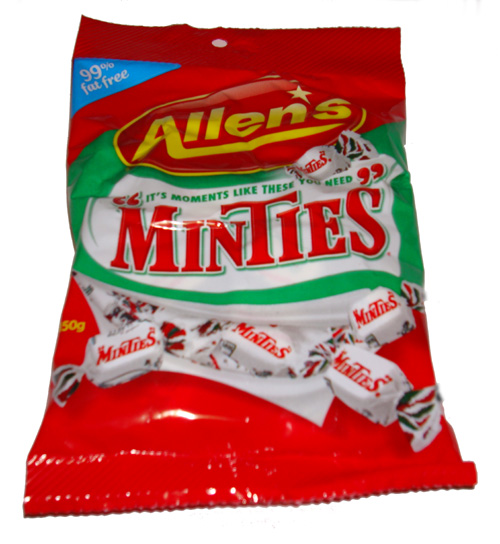 Box: Allens Minties 150g