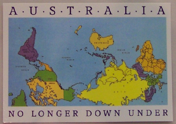 About australia shop postcard upside down world map gumiabroncs Image collections