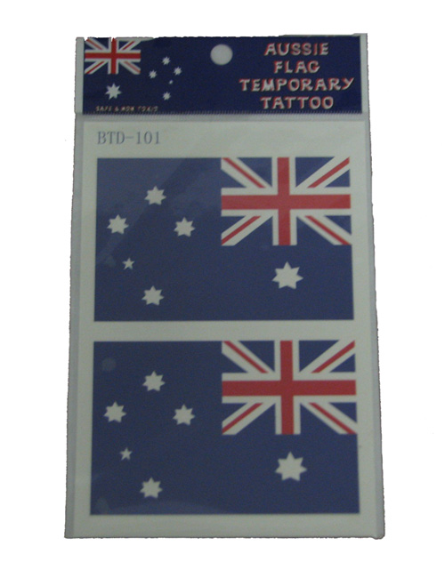 Australian Flag Temporary Tattoos Large
