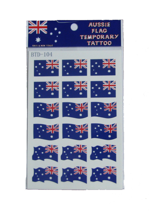 Australian Flag Temporary Tattoos Small